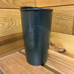Starbucks Black Ceramic Double Wall Tumbler Mug